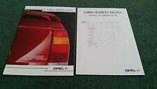 Oct 1987 1988 OPEL CORSA KADETT ASCONA ENGLISH BROCHURE GSi Nova Astra Cavalier