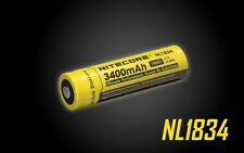 2 Pack NiteCore NL1834 Protected 3400mAh 18650 Rechargeable Li-ion Battery