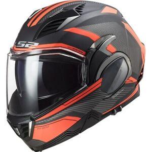 LS2 FF900 Valiant II Revo Flip up Helmet Matte Titan-Fluoorang Size XL