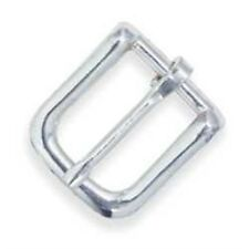 """5/8"""" #12 Nickel Plated Bridle Buckles - 58 12 Leathercraft Decorative"""
