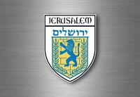 Sticker decal souvenir car coat of arms shield city flag jerusalem israel