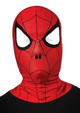 CHILD MARVEL SPIDERMAN FABRIC MASK SUPER HERO COMIC COSTUME RU35635