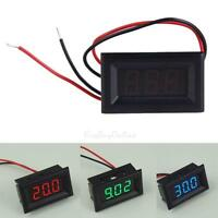 DC 2.5-30V Two Wire 3 Digital Panel Car Voltmeter LED Display Volt Voltage Meter