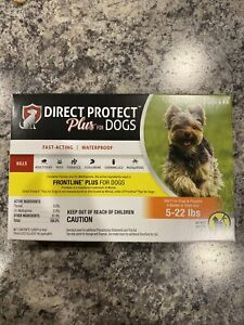 Direct Protect Plus For Dogs- Flea Treatment. Fast Acting And Waterproof. 5-22lb