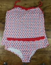 HEART UNION JACK STRAPPY PYJAMAS WHITE BLUE AND RED SIZE 16 NEW WITHOUT TAGS
