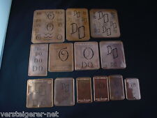 13 x DO Merkenthaler Monogramme, Kupfer Schablonen, Stencils, Patrons broder