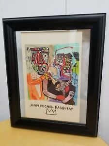 """Original Painting on Paper Jean M. BASQUIAT - hand signed  8.5"""" X 13"""""""