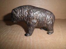 """Wonderful old original cast iron """"Teddy"""" Bear still bank, by Arcade 1910 - 1925"""