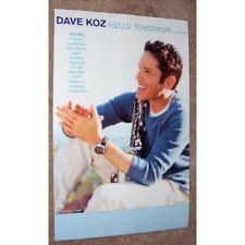 Dave Koz poster - Hello Tomorrow - promo poster - 11 x 17 inches