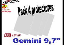 "**Pack 4 Protectores de pantalla para Gemini 97 Tablet 9,7"" universal Alcampo"