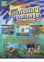 SEGA BASS FISHING CHALLENGE VIDEO ARCADE GAME FLYER NOS