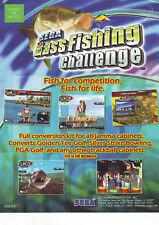 SEGA BASS FISHING CHALLENGE VIDEO ARCADE GAME FLYER NOS