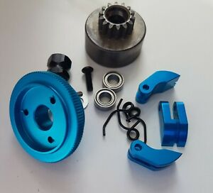 1/8 RC Nitro Clutch Flywheel Kit 3 Shoe Blue