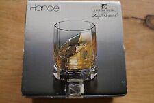 Luigi Bormioli 4 whisky glasses in blown crystal