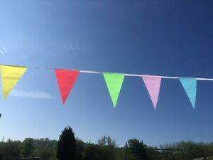 Lockdown bunting! Cheerful multi-coloured bunting with1st Class Postage-20 Flags