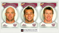 2006 NRL Accolades Series Trading Cards Face Die Cut Team Set Manly(10)