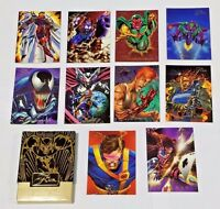 1994 FLAIR Marvel Universe Comic Trading Cards Near Mint 10 cards with box Lot C