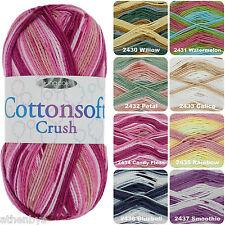 King Cole Cottonsoft Crush DK Multi-Coloured 100% Cotton Knitting & Crochet Yarn