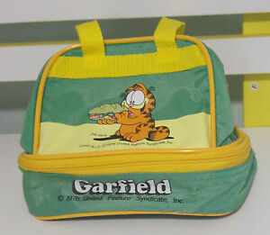 GARFIELD 1978 ZIP UP CARRY BAG TOY ABOUT 17CM TALL GORGEOUS!