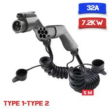 EV Charging Cable Electric Car Charger Type1 To Type 2 32A 7.2KW SAE J1772 5M