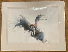 Sarah Stokes Eric Owl In Flight Giclee Print 26/250 Signed Limited Edition Art
