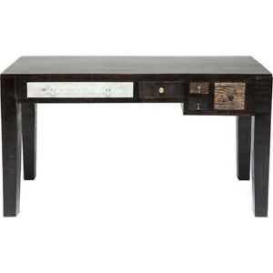 Made to Order Vivid Noir Contemporary Mango Wood Console Hall Table Study Desk