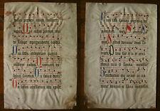 ANTIPHONAR, ANTIPHONARY, (GLORIA, SANCTUS), LOMBARDEN IN ROT UND BLAU, ~1500