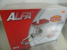 "ALFA MC5 ELECTRIC MEAT CHOPPER / GRINDER 220 LBS / HR #12 HEAD 1/8"" 3/16"" 5/16"""