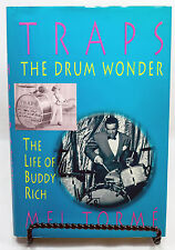 Traps The Drum Wonder The Life Of Buddy Rich by Mel Torme Hardcover Dust Jacket
