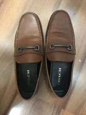 GENUINE Coach Mens size 11 Shoes Brown Horsebit Driving Loafers Slip On