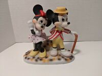 Vintage Disney Porcelain Dapper Mickey & Minnie Mouse Figurine