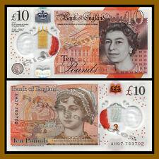 Great Britain (England) 10 Pound, 2015 P-New Queen Elizabeth II Polymer Unc