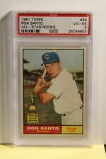 1961 Topps Ron Santo PSA 4 VG-EX RC Rookie Card Chicago Cubs