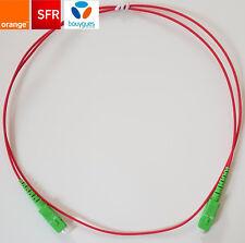 Cable / Cordon fibre optique pour box SFR/Orange/ Bouygues 1m/2,5m/3,5m/4m