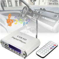 12V Mini Car Audio Stereo Hifi Amplifier Remote FM Digital Player