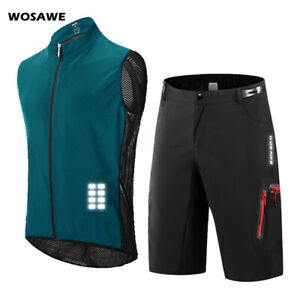 Mens Cycling Sets Baggy Shorts Breathable Vest MTB Mountain Bike Riding Outfits