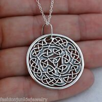 Trinity Celtic Knot Necklace - 925 Sterling Silver - Irish Celtic Pendant NEW