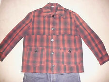 MONTGOMERY WARD Men's Vintage WOOL Jacket XL Flannel Hunting USA Made