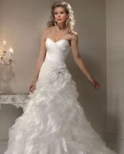 Maggie Sottero Strapless Wedding Dress. UK 12.  Ruffles! Wow Factor!
