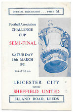 Leicester City FA Cup Home Teams L-N Football Programmes