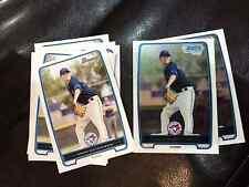 2012 Bowman BP103 Drew Hutchison 10 count lot, 2 chrome, 8 base Blue Jays