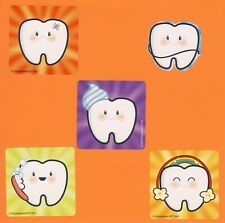 10 Tooth Emoji Shaped Large Stickers - Party Favors - Rewards