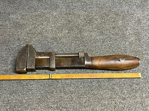 """Vintage L Coes Wrench Co 12"""" adjustable Wrench Pat July 8, 1884 Super Nice!"""
