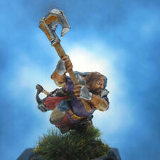 Painted Reaper BONES Miniature Fighter Attacking with Axe