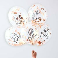 ROSE GOLD OH BABY CONFETTI BALLOONS - TWINKLE TWINKLE, Baby Shower, Decorations