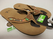 SANUK MENS SANDALS FRAID SO TAN MULTI SMS2138 TMLT SIZE 10