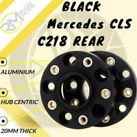 BLACK Mercedes CLS C218 REAR 5x112 20mm Hubcentric Wheels Spacers M14x1.5 bolts
