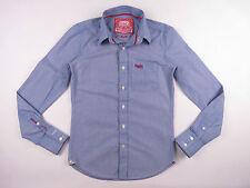 rl169 SUPERDRY camisa top Original Premium Azul Cuadros s&d japón talla S