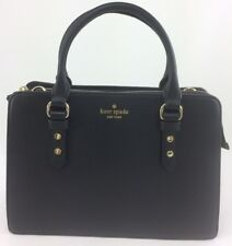 New Authentic Kate Spade Lise Mulberry Street Satchel Crossbody Handbag Black