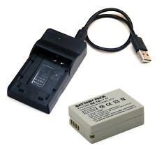 USB Charger + Battery for Canon PowerShot SX40 HS SX50 HS SX60 HS Digital Camera
